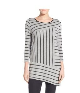 Vince Camuto Asymmetrical Striped top